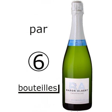 Carton de 6 bouteilles Baron Albert cuvée Universelle Champagne Baron-Albert - 1