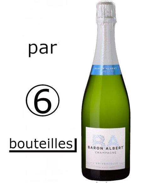 CHAMPAGNE BRUT BARON ALBERT PAR carton de 6 bouteilles