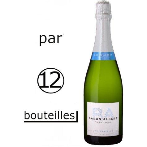 (Par carton de 12 bouteilles) Baron Albert cuvée Universelle Champagne Baron-Albert - 1