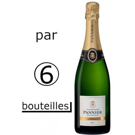 (Par carton de 6 bouteilles) Champagne Pannier Brut Sélection Champagne Pannier - 1