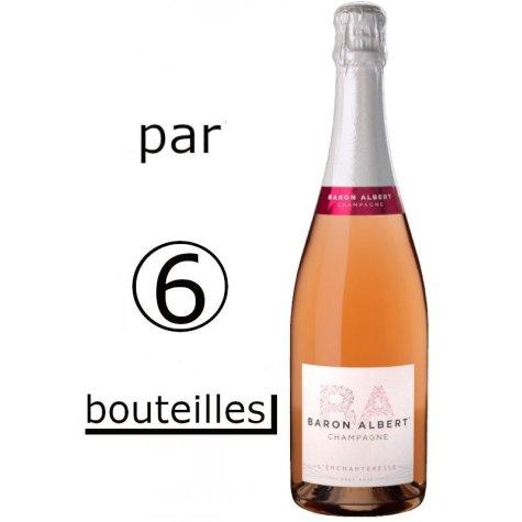 Rosé l'Enchanteresse Baron Albert (par carton de 6 bouteilles) Champagne Baron-Albert - 1