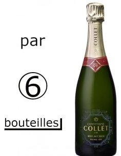 champagne Collet Art Déco par 6 bouteilles
