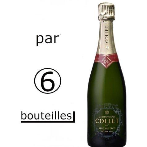 Carton de 6 bouteilles Collet Art Déco 1er Cru Champagne Collet - 1