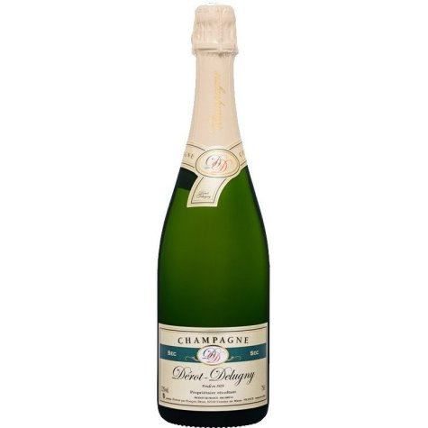 Champagne Sec Dérot delugny Coiffe blanche