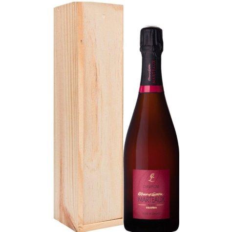 Rosé de saignée Marteaux dans caisse bois Champagne Olivier et Laetitia Marteaux - 1