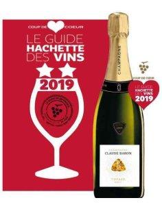 CHAMPAGNE MILLESIME 2009 BRUT CLAUDE BARON guide hachette 2019