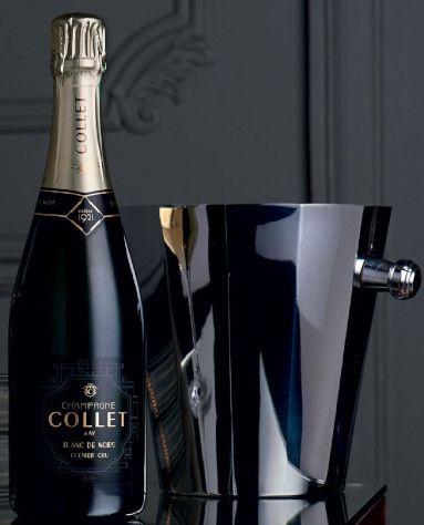 Bourteille et sceau à champagne collet