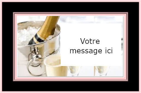 Carte message champagne